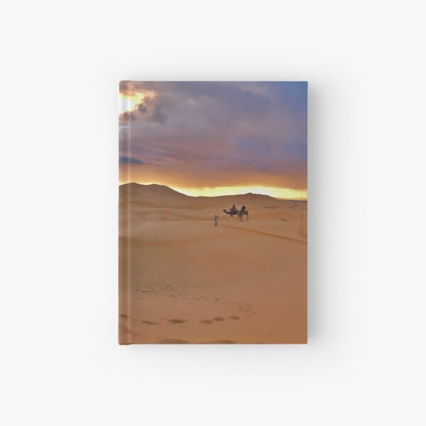 Sahara desert, Morocco, Africa Hardcover Journal