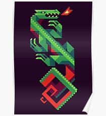 Fire Lizard Poster