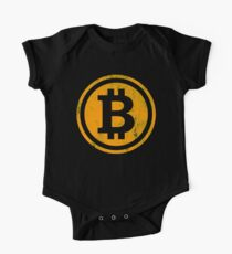 Vintage Bitcoin Crypto Currency T-shirt One Piece - Short Sleeve