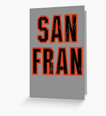 San Francisco, Sports Letters, Baseball Fan Greeting Card