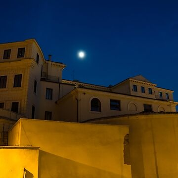 Magical Rome, Italy - Yellow Facades and Moonlight by GeorgiaM