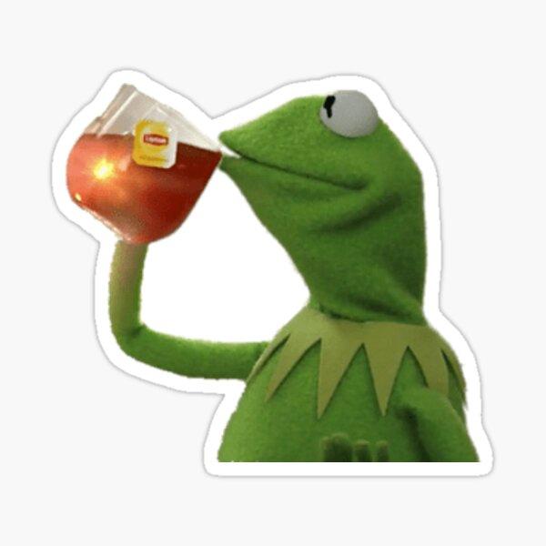 Kermit la rana Pegatina