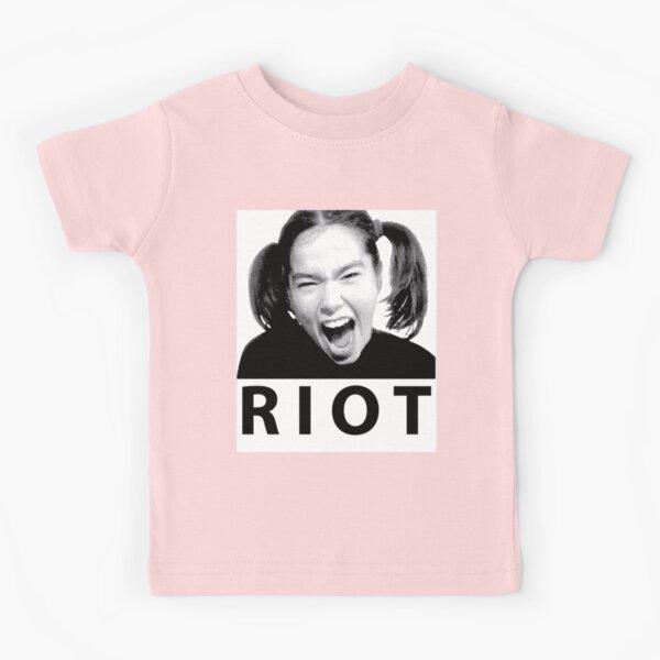 BJORK RIOT HALFTONE ORIGINAL FAN ART Kids T-Shirt