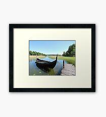 Boat At Birka  Framed Print
