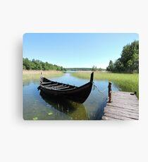 Boat At Birka  Canvas Print