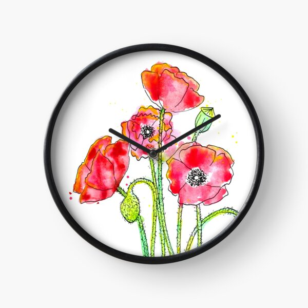 Poppies Clock