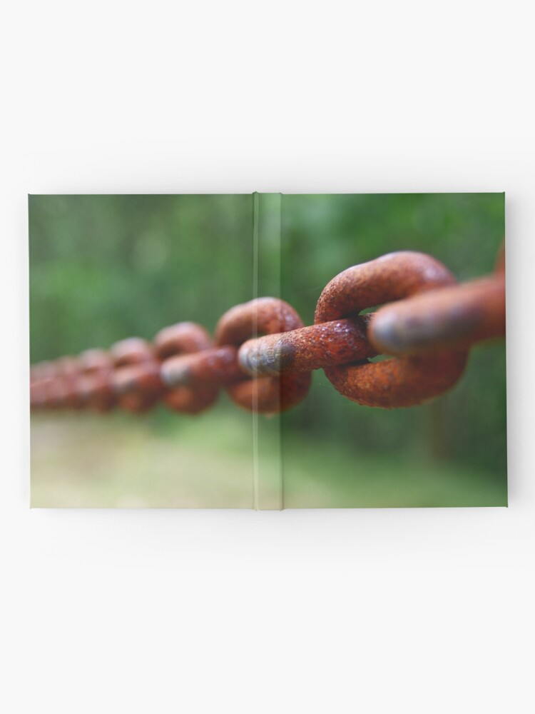 Alternate view of Old rusted chain Hardcover Journal