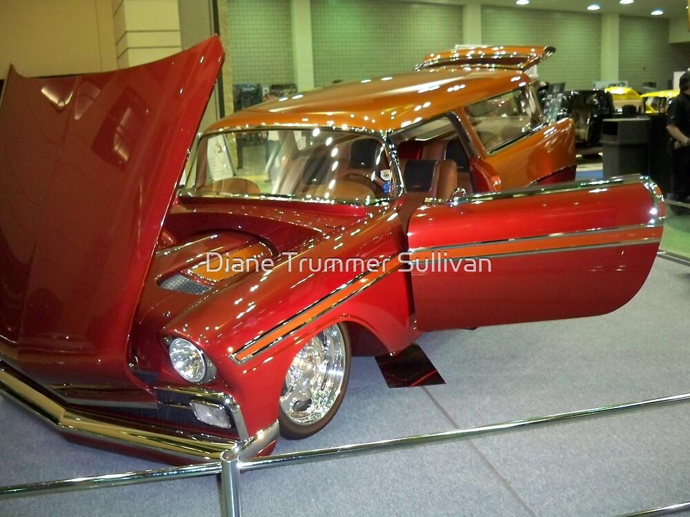 1956 ORANGE Custome Chevrolet HANDYMAN WAGON  #2 by Diane Trummer Sullivan