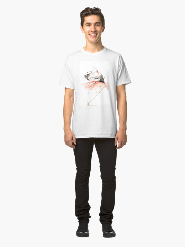 Alternate view of Expressive Dance Drawing Classic T-Shirt