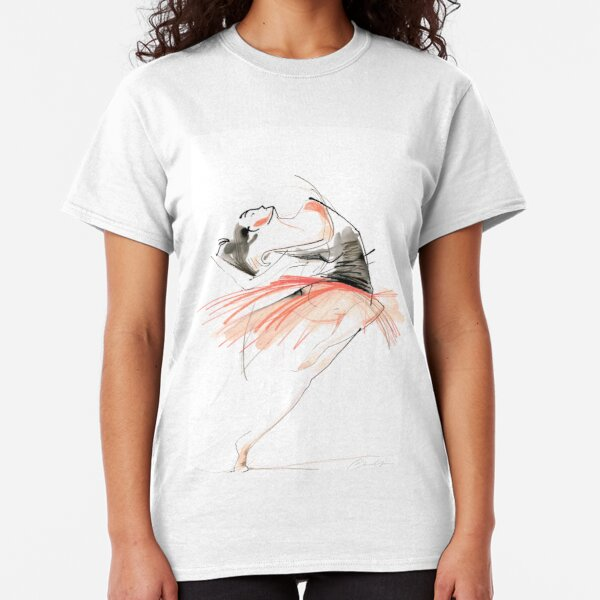 Expressive Dance Drawing Classic T-Shirt