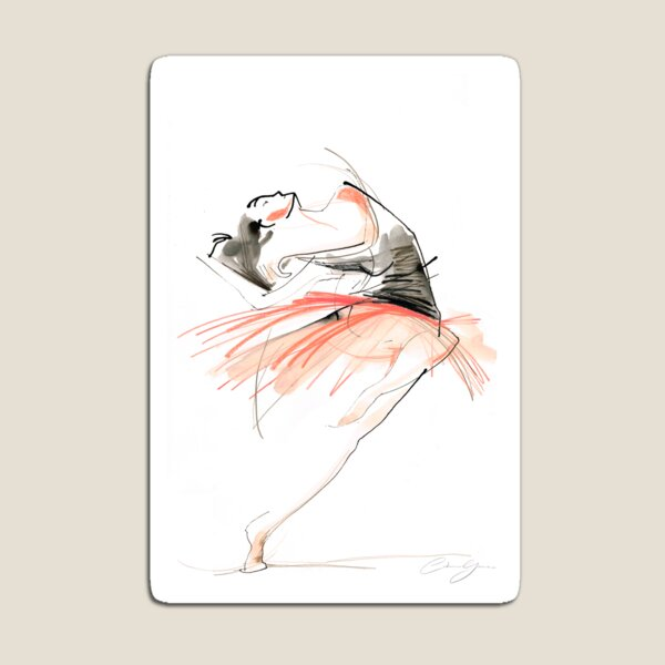 Expressive Dance Drawing Magnet