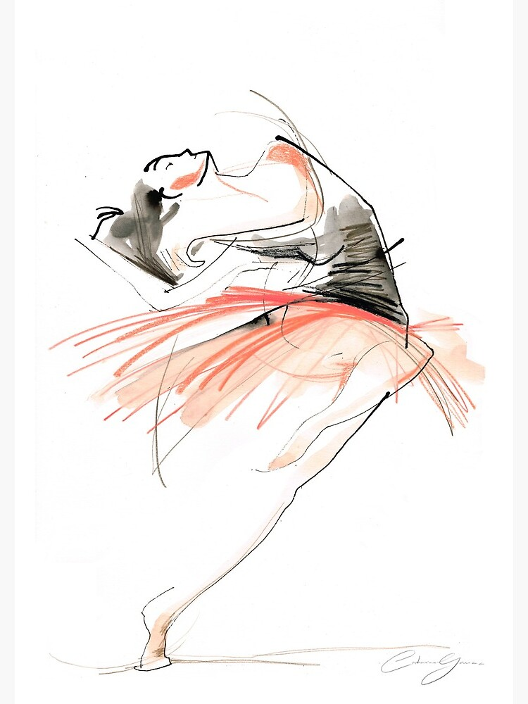 Expressive Dance Drawing by CatarinaGarcia