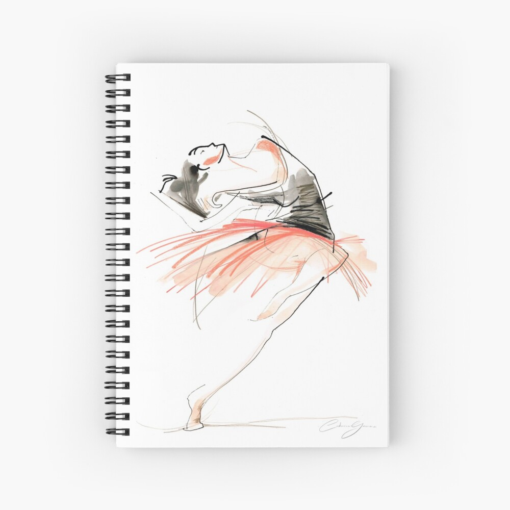 Expressive Dance Drawing Spiral Notebook
