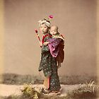 Japanese child carrying baby by Fletchsan