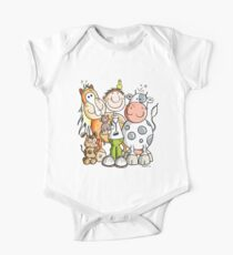 Funny Veterinary With His Animals One Piece - Short Sleeve