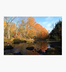 Autumn Brook Reflections - Nova Scotia Canada Photographic Print