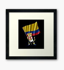 Colombia fan cat Framed Print