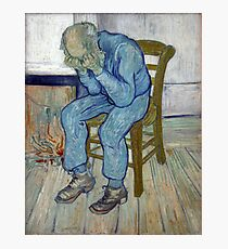 'At Eternity's Gate' by Vincent Van Gogh (Reproduction) Photographic Print