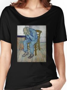 'At Eternity's Gate' by Vincent Van Gogh (Reproduction) Women's Relaxed Fit T-Shirt