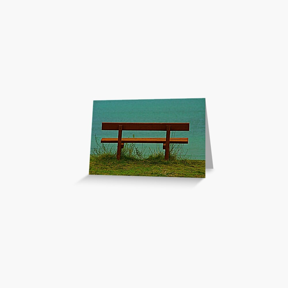 Bench by the Beach Greeting Card