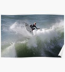 360 deg flip by surfer Poster