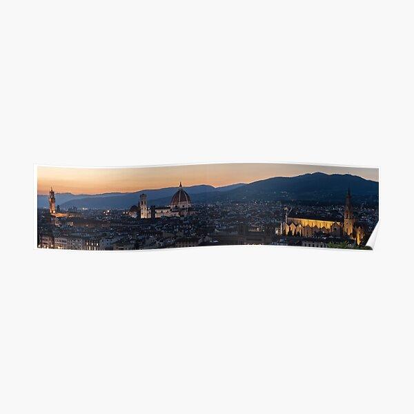 Wall Art - Florence City Skyline Panorama Poster
