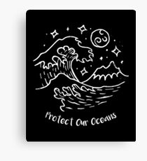 Protect Our Ocean Conservation Canvas Print