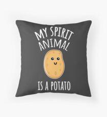 Mein Geistertier ist eine Kartoffel Dekokissen