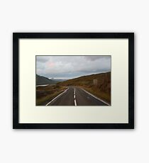 Lost in Scotland road Framed Print