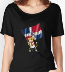 Dominican Republic fan cat Women's Relaxed Fit T-Shirt