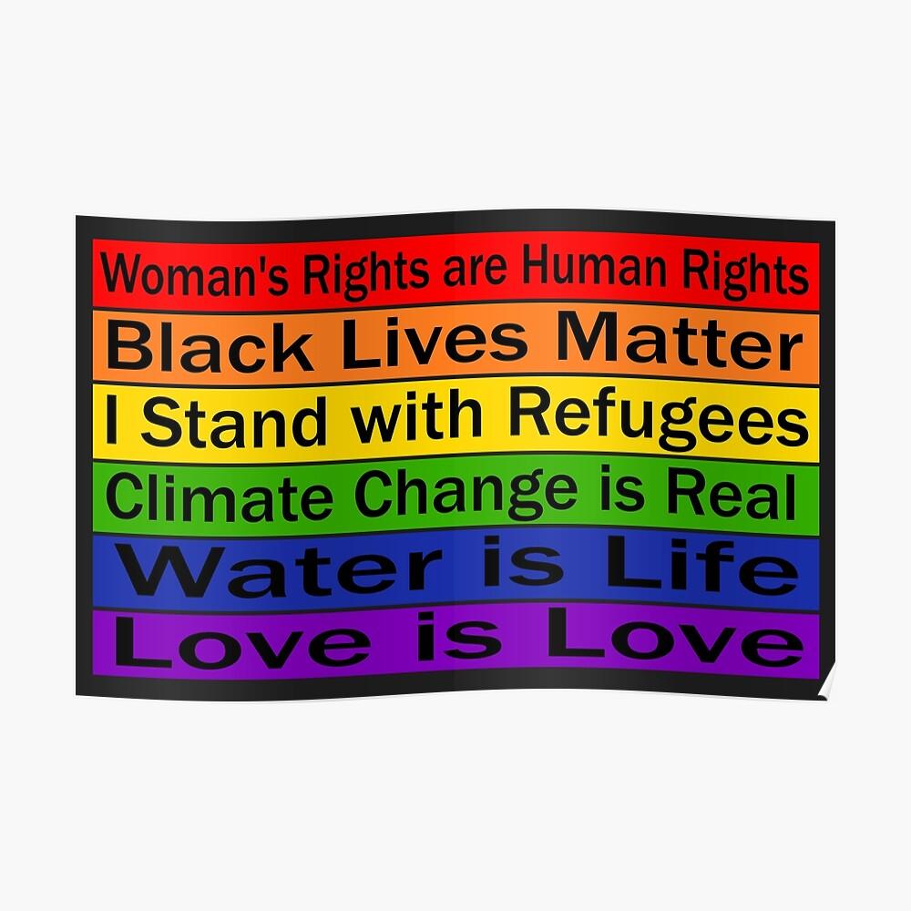 Politischer Protest - Gemeinsam können wir etwas ändern Poster