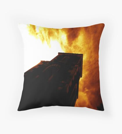 Lara Anglican in Flames - Lightsmith Throw Pillow