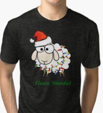 Fleece Navidad - Christmas Sheep Tri-blend T-Shirt