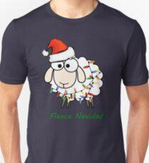 Fleece Navidad - Christmas Sheep Unisex T-Shirt