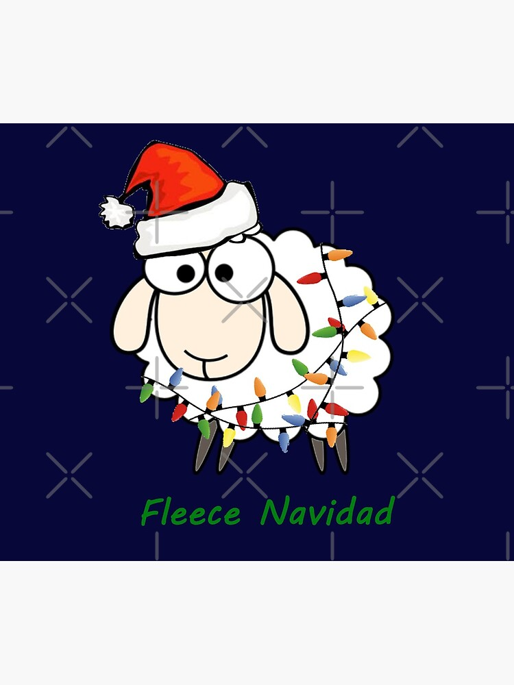 Fleece Navidad - Christmas Sheep by bethcentral