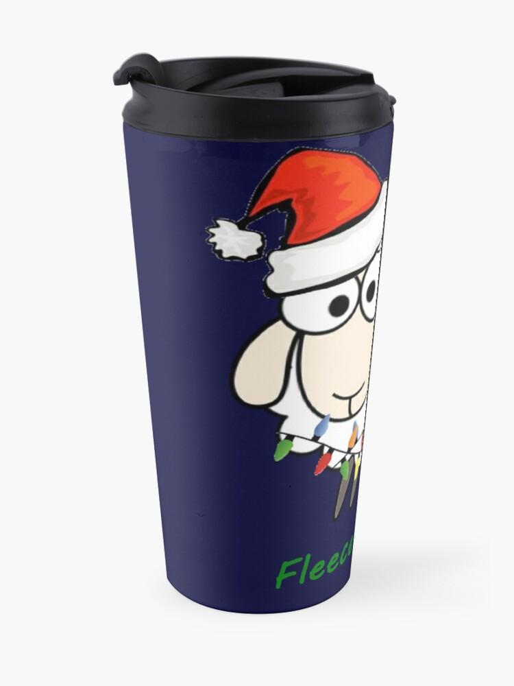 Alternate view of Fleece Navidad - Christmas Sheep Travel Mug