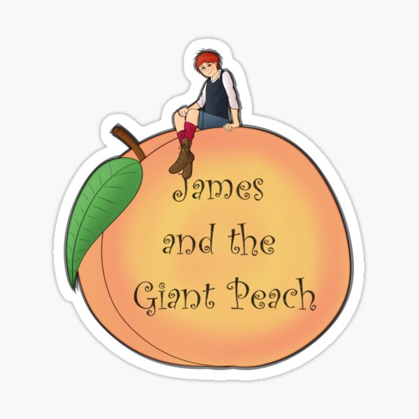 James and the Giant Peach Sticker