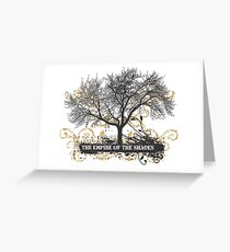 the empire of shades - street style Greeting Card