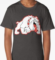 Wilson Bulldogs Logo (Red Outline) Long T-Shirt