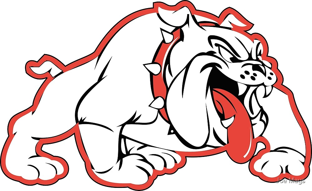 Wilson Bulldogs Logo (Red Outline) by Joe Mays