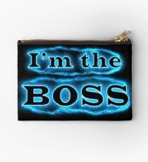 Ich bin der Boss blau Täschchen