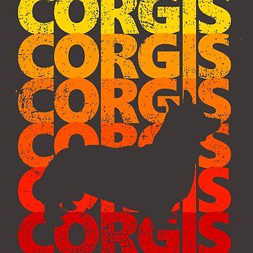 Vintage Corgis by bethcentral