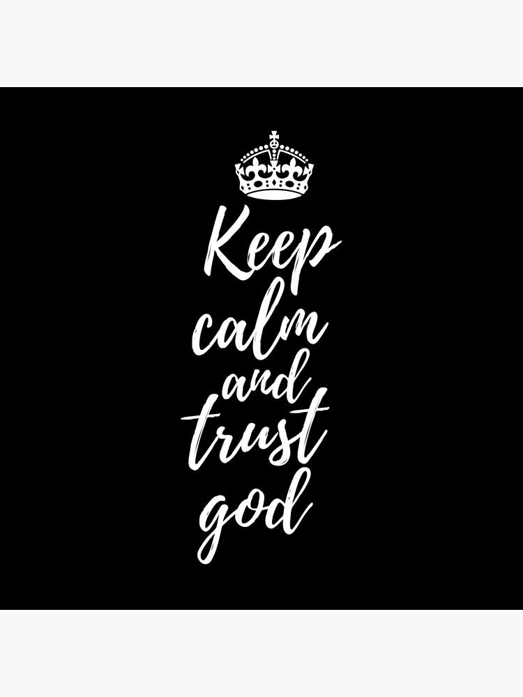 High Quality Keep Calm and Trust God Design Socks,