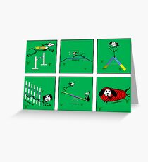 Agility dog - the full course! Greeting Card