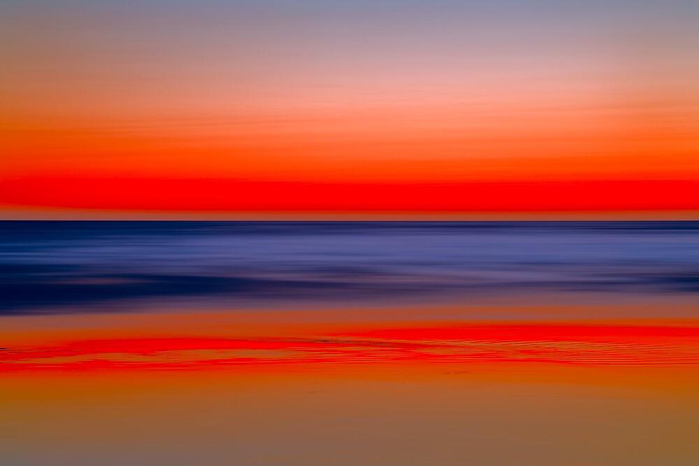 Twilight at Santa Monica Beach by Yves Rubin