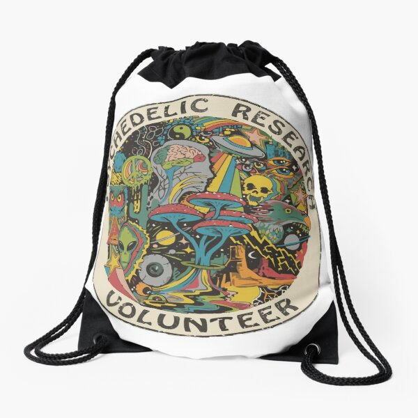 Research Volunteer Drawstring Bag