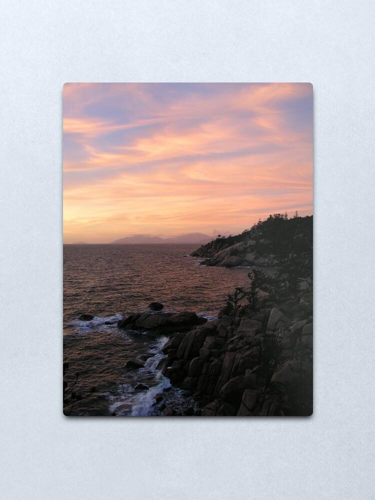 Alternate view of Ocean-Rock-Sky Metal Print