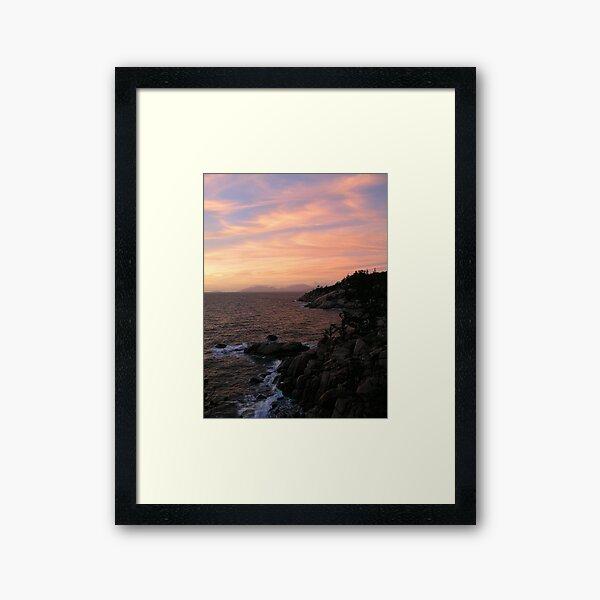 Ocean-Rock-Sky Framed Art Print