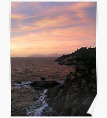 Ocean-Rock-Sky Poster