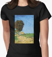 'A Lane in Arles' by Vincent Van Gogh (Reproduction) T-Shirt